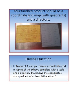 PBL: Mapping Your School on a Coordinate Grid: CORE (Geometry and Number Sense)