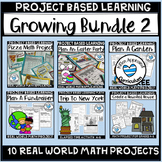 Project Based Learning Math Bundles 4th 5th 6th Grade