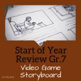 Math Video Game Storyboard: Start of Year Assessment Grade 7