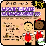 Project Based Learning Movie Management Company Simulation (Money & Time Focus)
