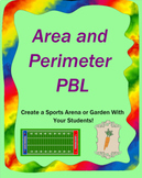 Project Based Learning (PBL) Area and Perimeter Project - Sports Arena or Garden