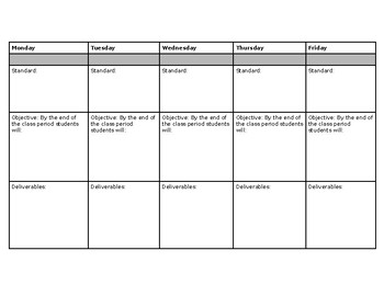 Project Based Learning (PBL) Calendar Template