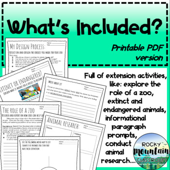 Project Based Learning (PBL) - Area & Perimeter - Zoo Design Project