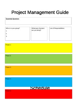 Project Based Learning (PBL) Project Guide