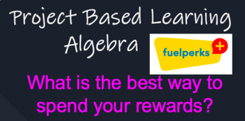 Project Based Learning (PBL) project - Algebra (Math)