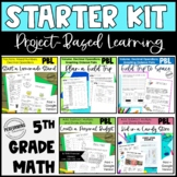 5th Project Based Learning Math Starter Pack Bundle