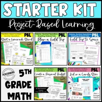 5th Project Based Learning Math Starter Kit Bundle