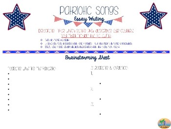 Project Based Learning - Patriotic Songs