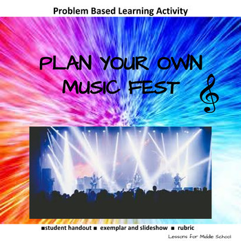 Project Based Learning - Plan a Music Festival (Middle School)