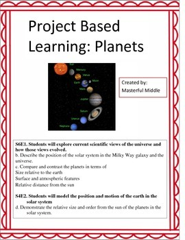 Project Based Learning: Planets and Solar System