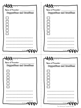 Project Based Learning Planning Sheets *free*  *freebie*