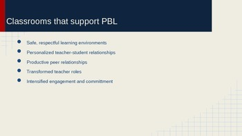 Project-Based Learning Professional Development Presenation