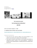 Great Depression and World War II- US History Project Based Learning