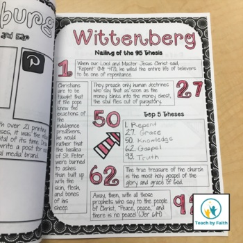Project Based Learning: Reformation Tour Scrapbook (PBL)