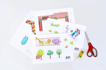 Project Based Learning: Sentences, Cut and Paste, 3D project, Zoo project