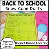 PROJECT BASED LEARNING ACTIVITY: Back to School and Commun