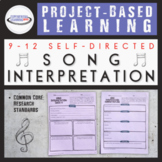 Project-Based Learning: Song Interpretation  {Printable an