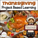 PROJECT BASED LEARNING MATH: THANKSGIVING Reading Passages and Plan Dinner