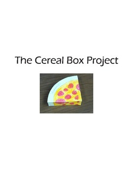 Project Based Learning - The Cereal Box Project Guide