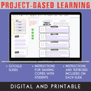 Project-Based Learning Planning Template {Google Classroom™ Distance Option}