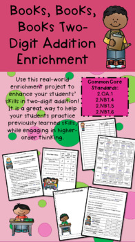 Grade 2 Math Enrichment - Inquiry Based Project - Two Digit Addition