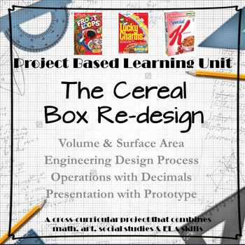 6th Grade Math - Project Based Learning Unit - Cereal Box Re-Design