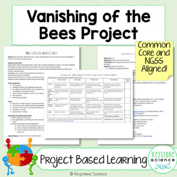 Project Based Learning Vanishing of the Bees PBL Ecology