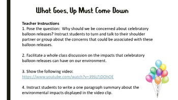 Project Based Learning: What Goes Up, Must Come Down