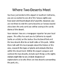 Project Based Learning: Where Two Deserts Meet