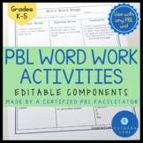 Project Based Learning Word Work Activities