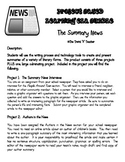 Project Based Learning:  Writing Summaries (4 Projects)