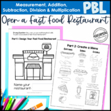 Math Project Based Learning for 3rd: Open a Fast Food Restaurant