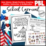 End of the Year Math Project For 4th Grade: School Carnival | Graphing, Fraction