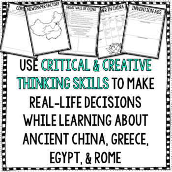 Project Based Learning: Ancient Civilizations PBL BUNDLE