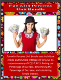 Fun with Percents Unit Bundle – 7th Grade PBL with Math