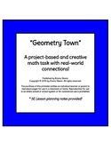 """Project-Based Math Task - """"Geometry Town"""""""