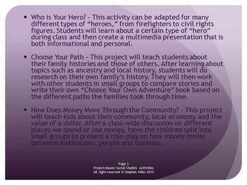 Project-Based Social Studies Activities: Grades 3-5
