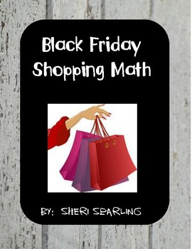 Project Based Spiral Black Friday Math Activity
