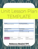 Project-Based UNIT Lesson Plan Template | EDITABLE