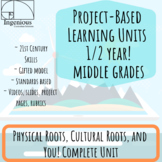 Project-Based Unit Bundle for Gifted / Adv. Middle School 1/2 YEAR: #1 Roots