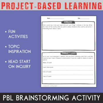 Project Brainstorming Activity