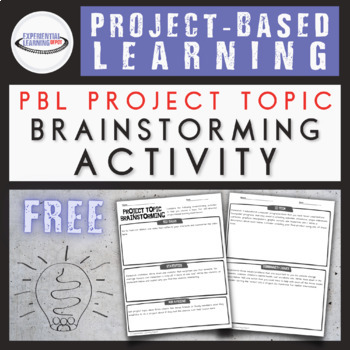 Project-Based Learning Brainstorming Activity {Google Classroom™ Option}