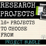 Project Bundle for any subject with EDITABLE Rubrics Dista