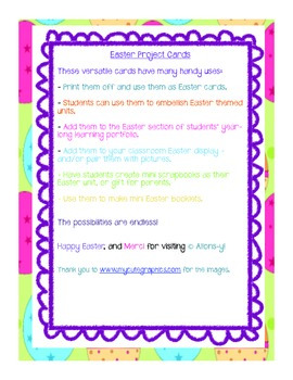 Project Cards - Easter (English)