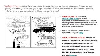 Project Choice - Create a Chinese Dynasties Interactive Timeline or Infographic