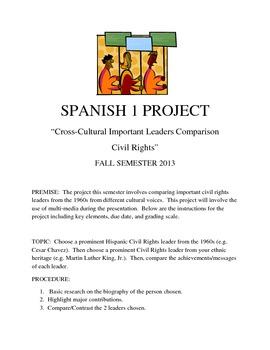 Project Comparing Hispanic and Non-Hispanic Civil Rights Leaders