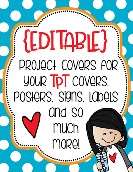 Project Covers Set 2 {EDITABLE}