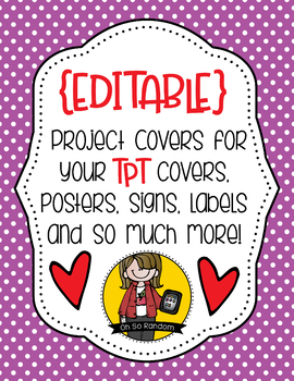 Project Covers Set 3 {EDITABLE}