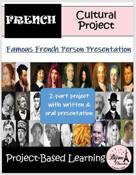 Project: Famous French Person Presentation WITH rubric