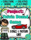 Project: Force and Motion Trivia Board Game (editable template)